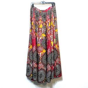 {CUPIO} Batik Floral Full Maxi Skirt X-Large